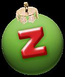 alphabet-boule-noel-vert-z